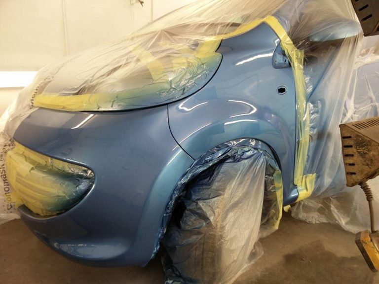 Full repair and repaint on car body at the Paint Wagon in Leicester