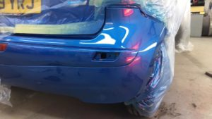 Bumper dent and car body repair in Leicester