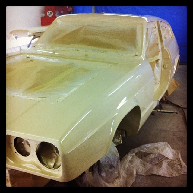 A respray on a classic Volkswagon Golf