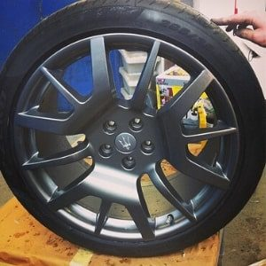 Refurbished alloy wheels refurbished by Paint Wagon